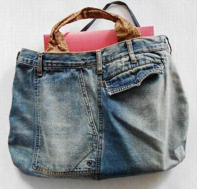 sac en jean fait main sac en jean customise tuto sac jean. Black Bedroom Furniture Sets. Home Design Ideas